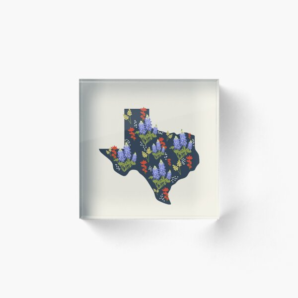 The Lone Star State of Wildflowers Acrylic Block