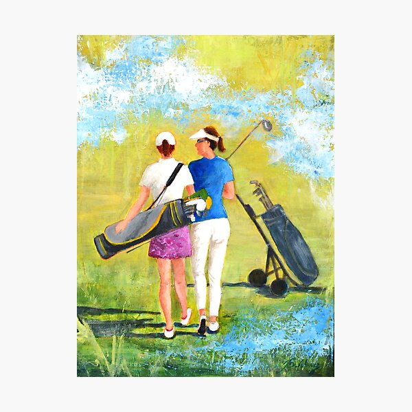 Golf buddies #1 Photographic Print