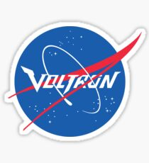 Voltron NASA Parody Sticker