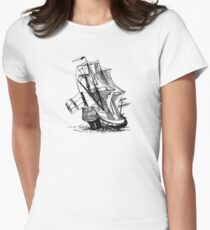 Dutch Ship Womens Fitted T-Shirt