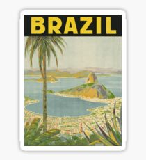 1940s Painting of Brazil Sticker