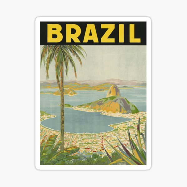 1940s Painting of Brazil Sticker