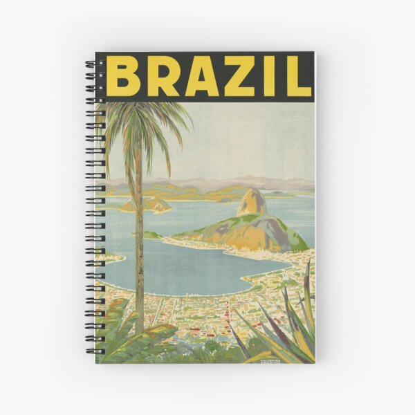 1940s Painting of Brazil Spiral Notebook