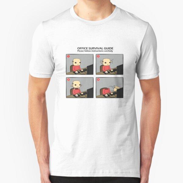 Office Survival Guide Comic Slim Fit T-Shirt