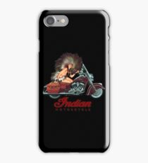 Retro Indian Motorcycles Poster by MotorManiac iPhone Case/Skin