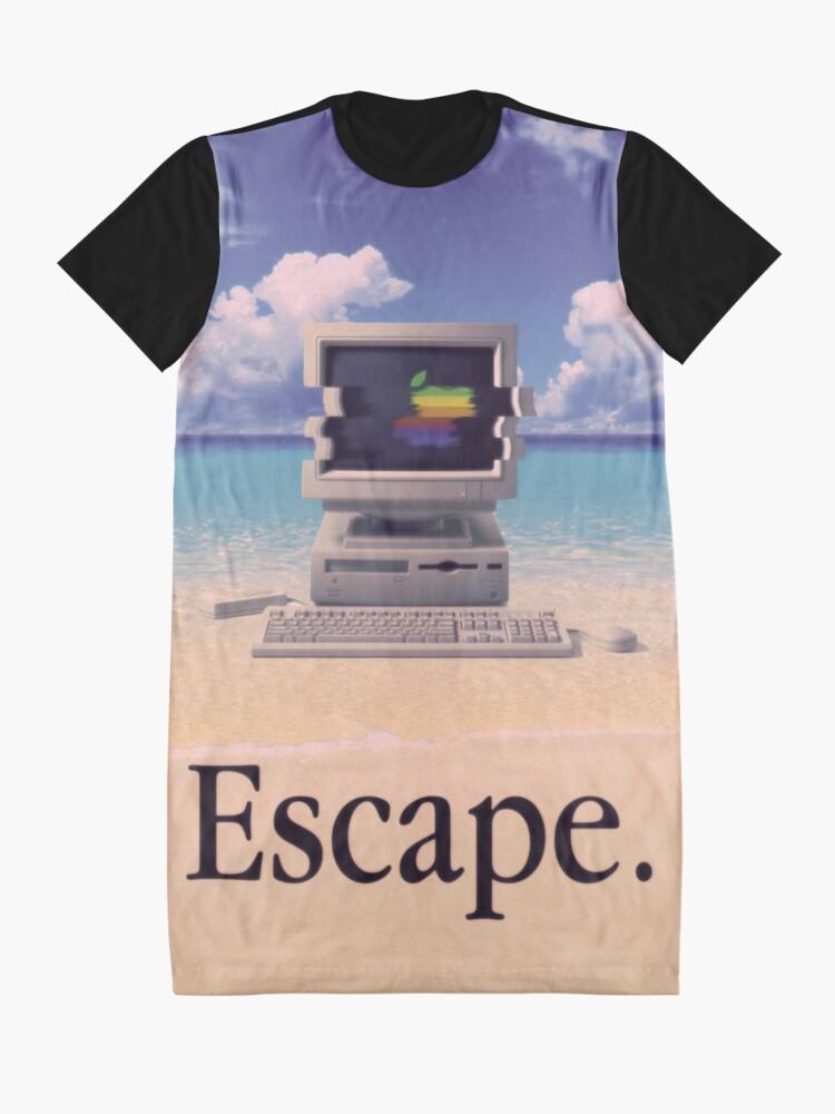Vista alternativa de Vestido camiseta Vaporwave Macintosh