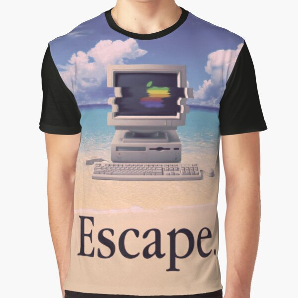Vaporwave Macintosh Graphic T-Shirt