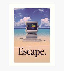 Vaporwave Macintosh Kunstdruck