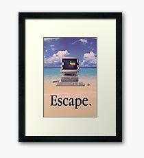 Vaporwave Macintosh Framed Print