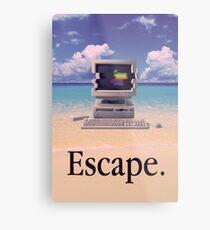 Vaporwave Macintosh Metal Print