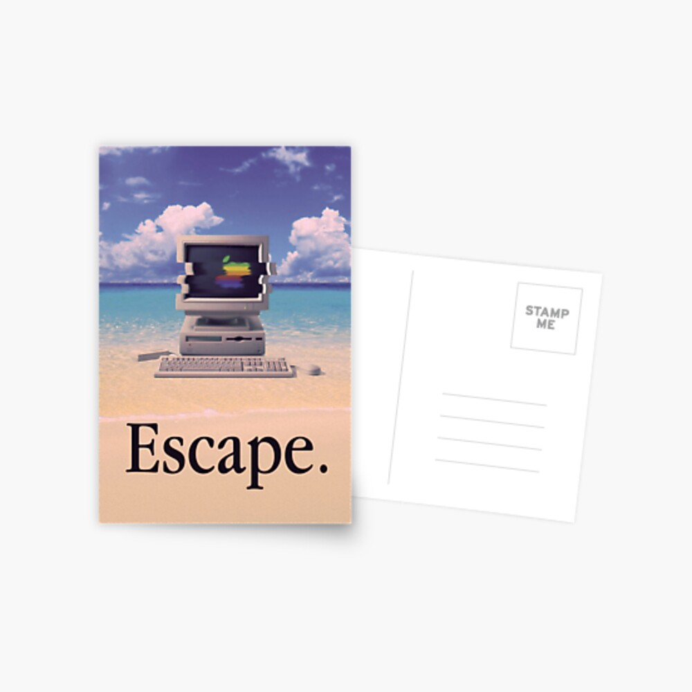 Vaporwave Macintosh Postcard