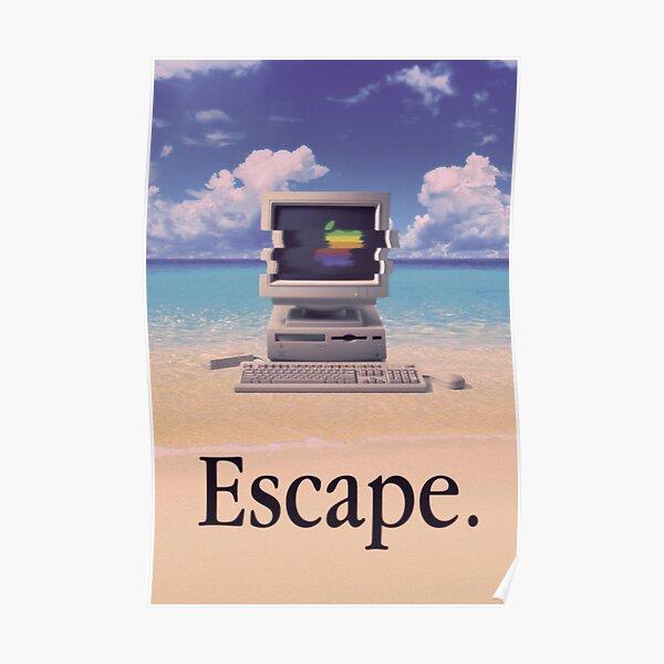 Vaporwave Macintosh Poster