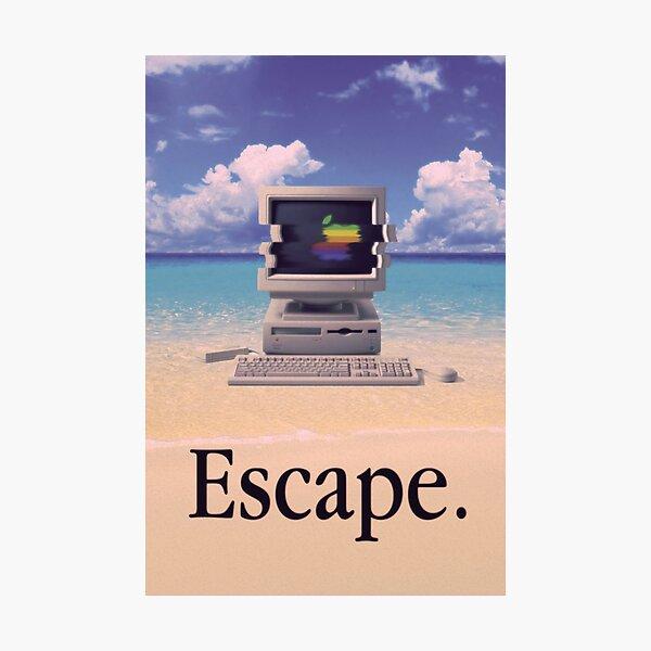 Vaporwave Macintosh Photographic Print