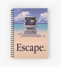 Vaporwave Macintosh Spiral Notebook