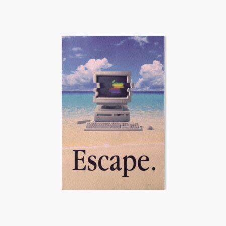 Vaporwave Macintosh Art Board Print