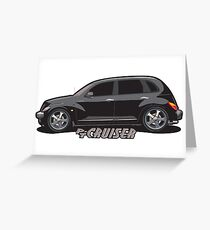 PT Cruiser - Black Greeting Card