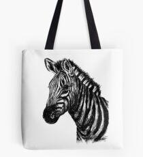 Zebra-Skizze Tote Bag