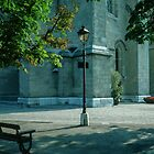 Light in grounds of Cathedral Lausanne Switzerland 19840817 0005 by Fred Mitchell