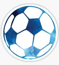 Blue soccer ball Sticker