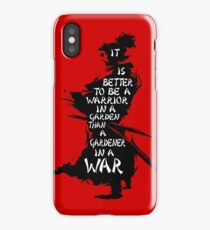 Warrior's Garden iPhone Case/Skin