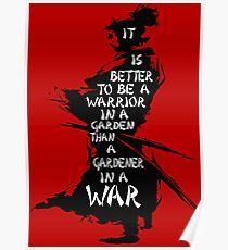 Garten des Kriegers Poster