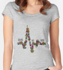 Healing Is Not Linear Women's Fitted Scoop T-Shirt