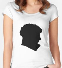 Sherlock Holmes (BBC) silhouette Women's Fitted Scoop T-Shirt