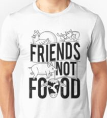Friends Not Food PIG COW CHICKEN T-Shirt