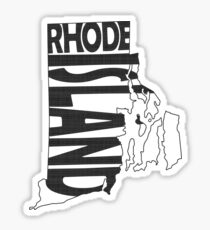 Rhode Island State Word Art Sticker