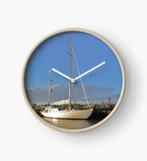 Sunlit Sailboat Clock