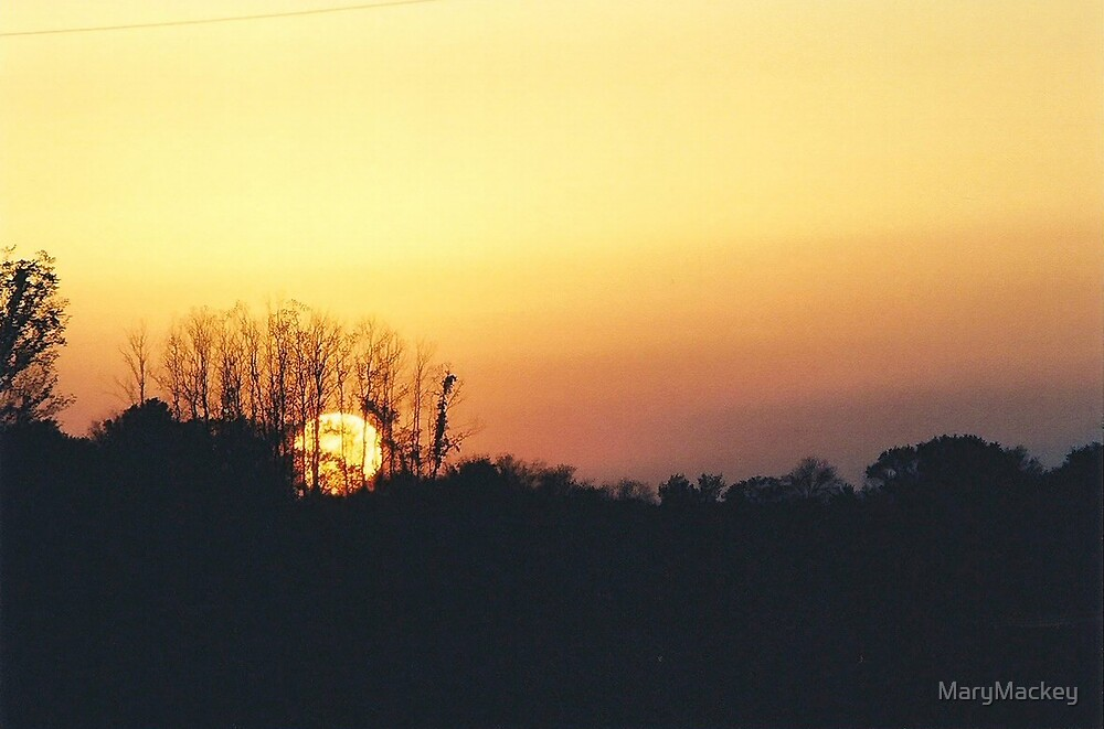 Sunset Over Beland by MaryMackey