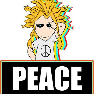 THE SYMBOL OF PEACE - ALL MIGHT (MY HERO ACADEMIA ANIME STICKER) by Ojouka
