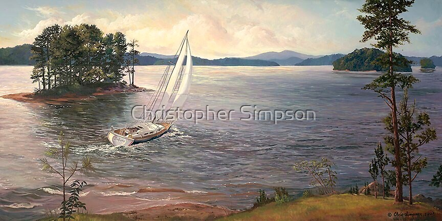 """Into the Wind,"" Lake Lanier  by Christopher Simpson"