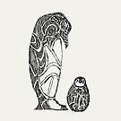 Kaiser-Pinguin-Skizze von Hinterlund