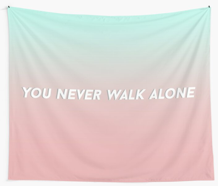 Bts Ynwa You Never Walk Alone Aesthetic Gradient Wandbehänge Von
