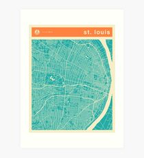 ST. LOUIS MAP Art Print