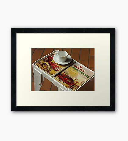 coffee table book Framed Print