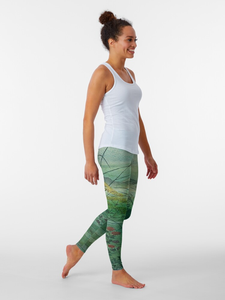 Alternate view of The Green, Green Grass of Home Leggings