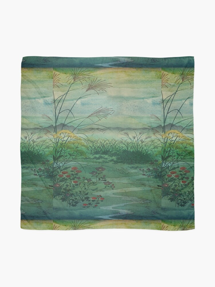 Alternate view of The Green, Green Grass of Home Scarf