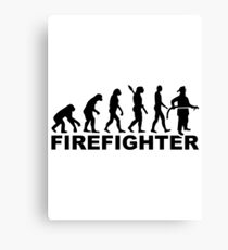 Evolution firefighter Canvas Print