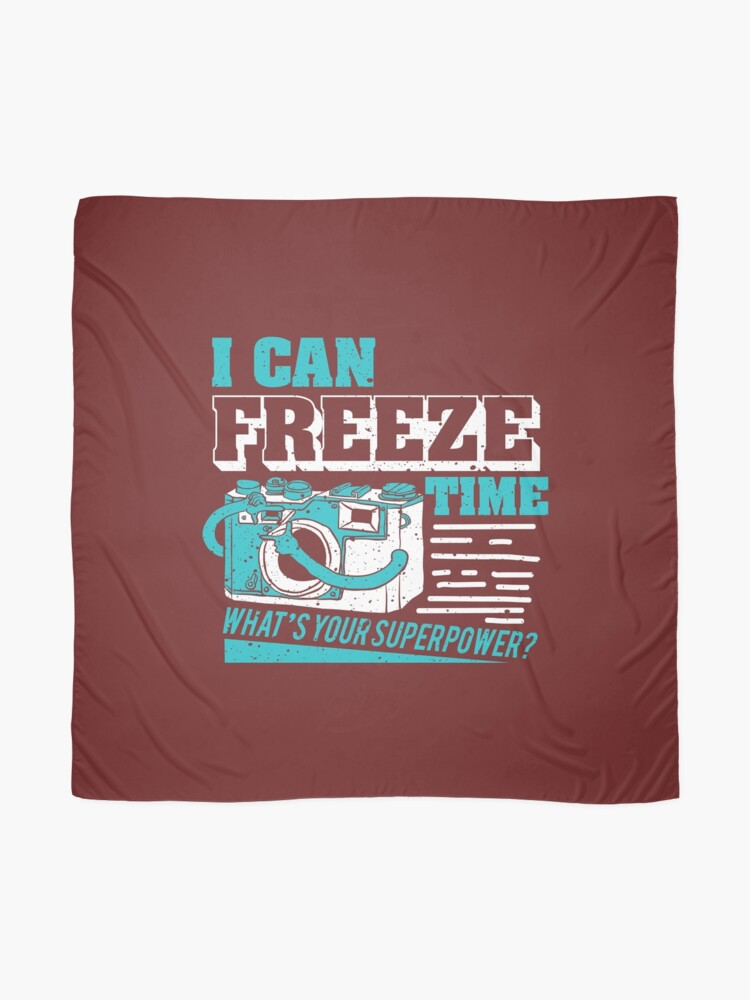 Alternate view of I Can Freeze Time... What's Your Super Power? Scarf
