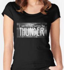 Thunder - Imagine Dragons lyrics Women's Fitted Scoop T-Shirt