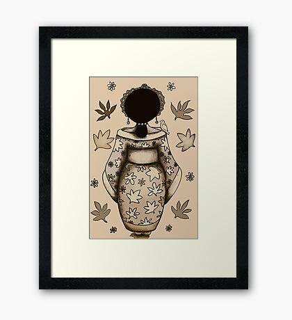 The Silk Princess Framed Print