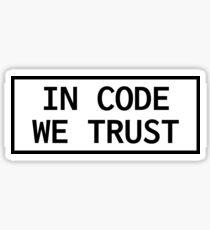 Pegatina En Code We Trust