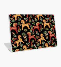 Folk horses pattern  Laptop Skin