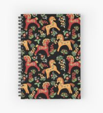 Folk horses pattern  Spiral Notebook