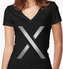 Xbox One X 3D Women's Fitted V-Neck T-Shirt