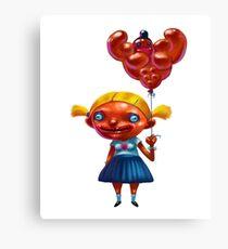 Cartoon Girl. Canvas Print