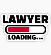 Lawyer loading Sticker