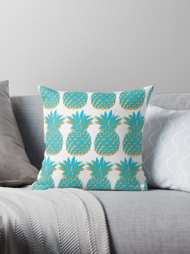 Blue & Orange Pineapple by Amy Hall